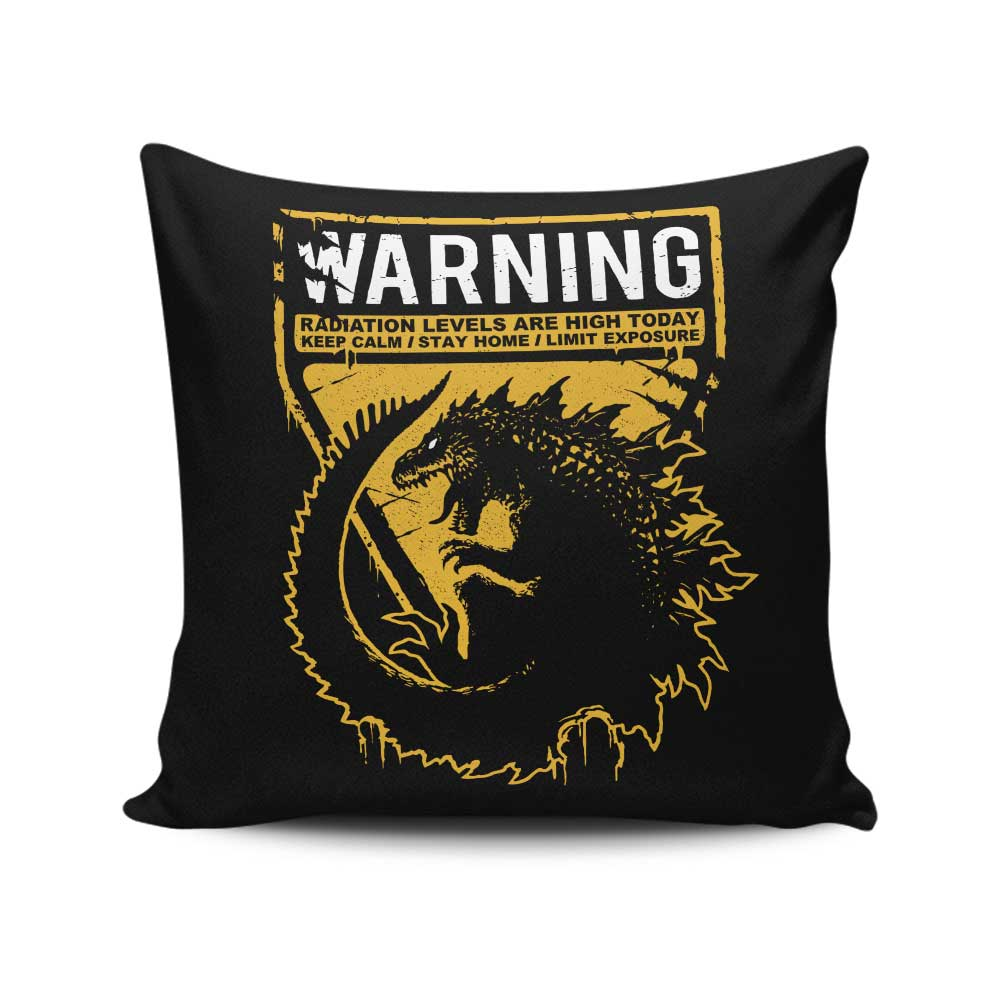 Warning: Radiation - Throw Pillow