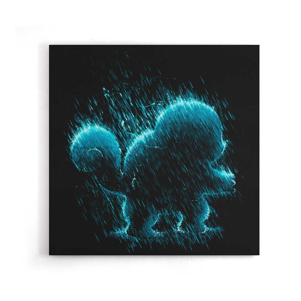 Water Type - Canvas Print