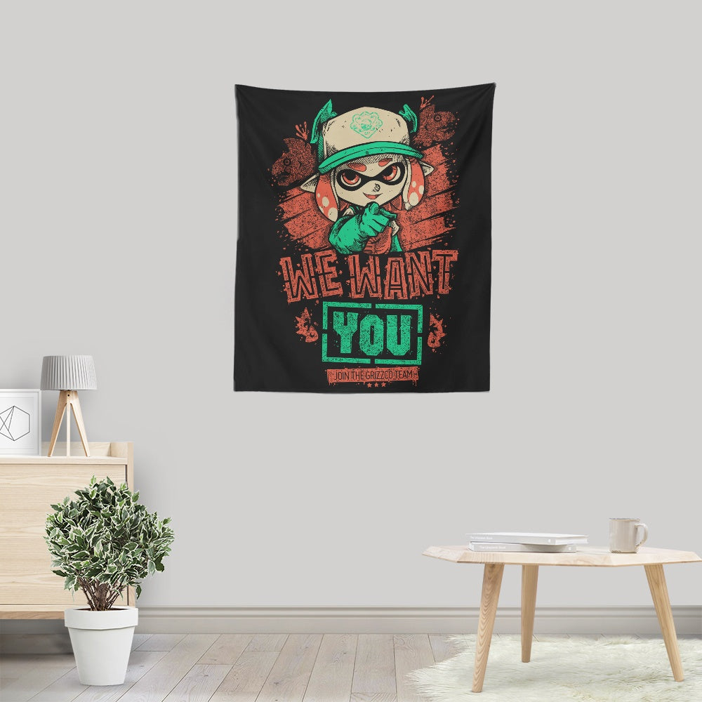 We Want You - Wall Tapestry