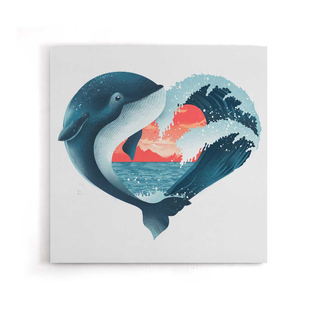 Whale Love - Canvas Print