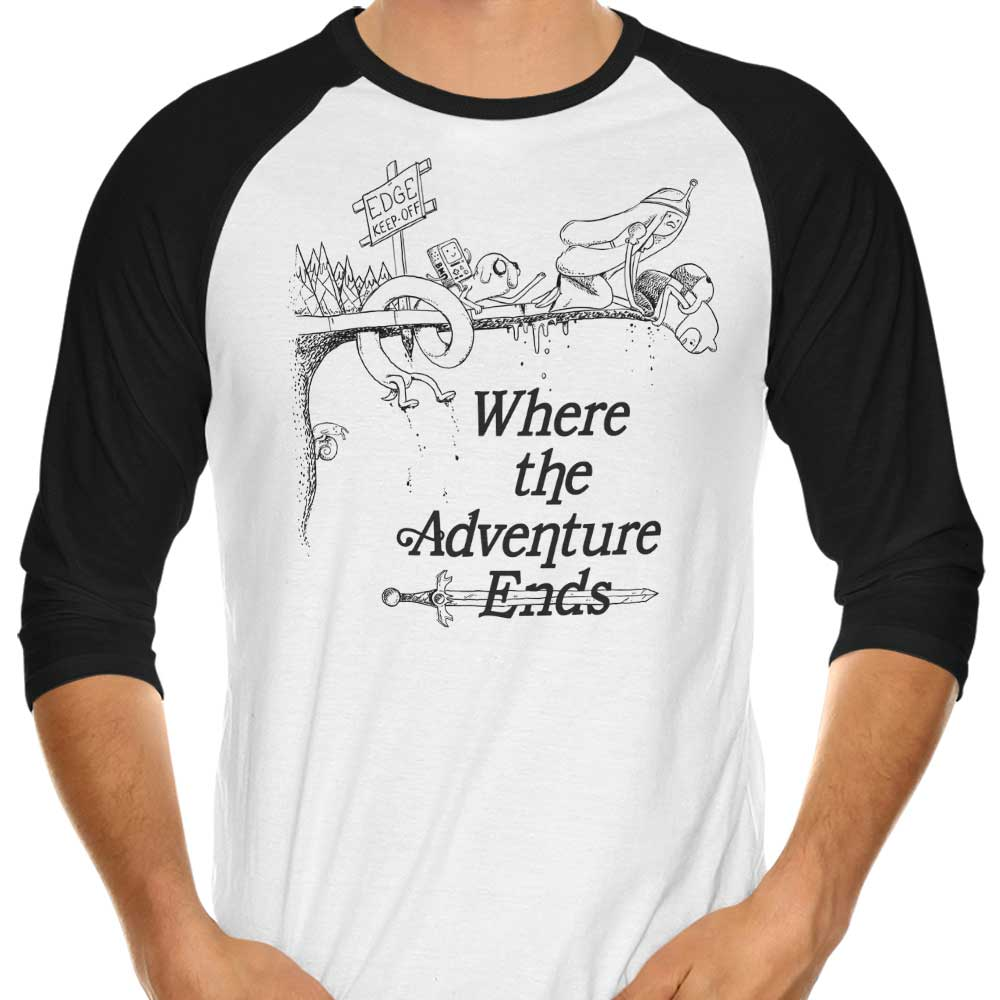 Where the Adventure Ends - 3/4 Sleeve Raglan T-Shirt