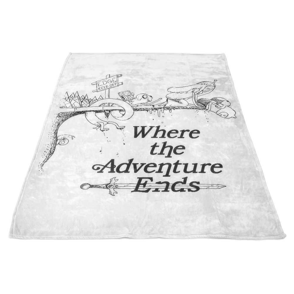Where the Adventure Ends - Fleece Blanket