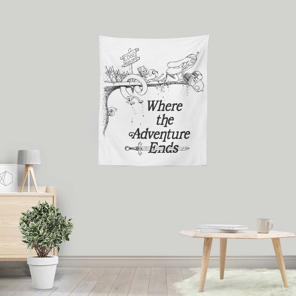Where the Adventure Ends - Wall Tapestry