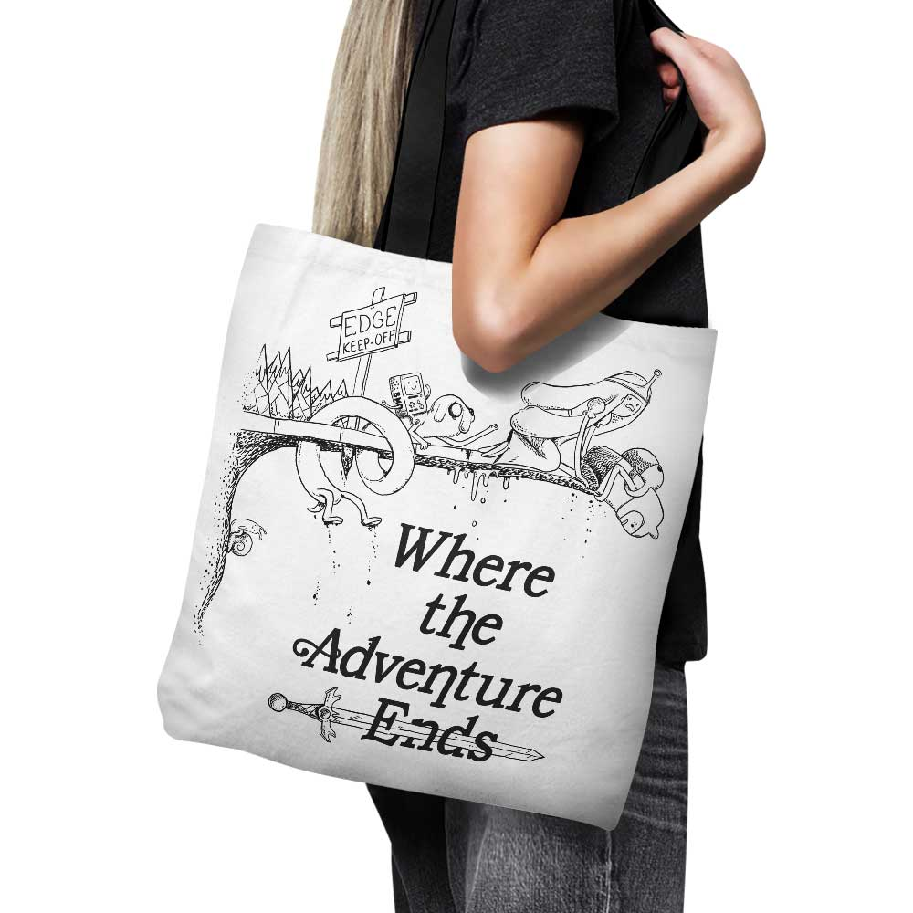 Where the Adventure Ends - Tote Bag