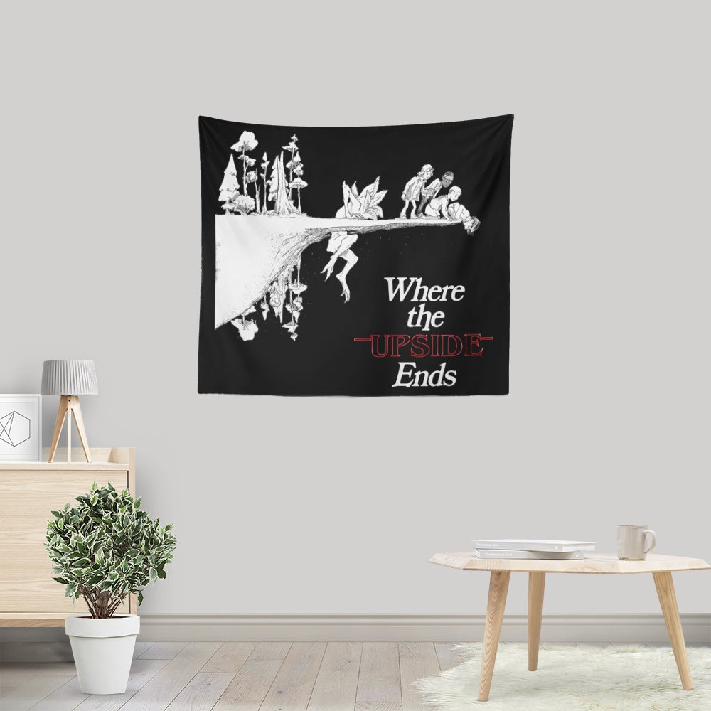 Where the  Upside Ends (Alt) - Wall Tapestry