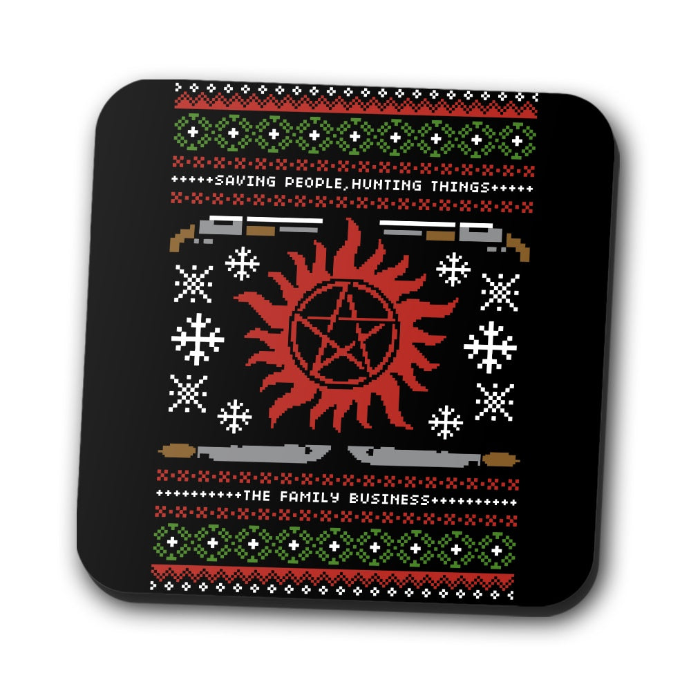 Wrapping Presents, Hunting Things - Coasters