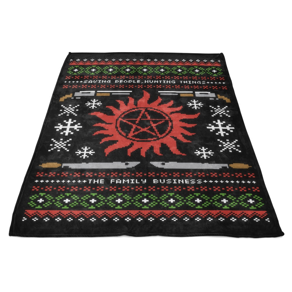 Wrapping Presents, Hunting Things - Fleece Blanket