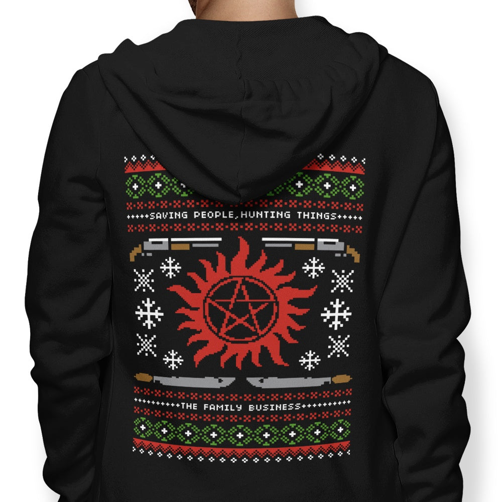 Wrapping Presents, Hunting Things - Hoodie