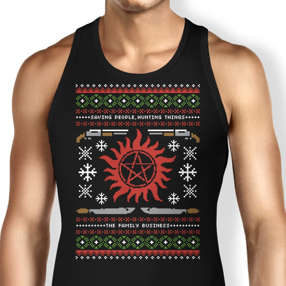 Wrapping Presents, Hunting Things - Tank Top