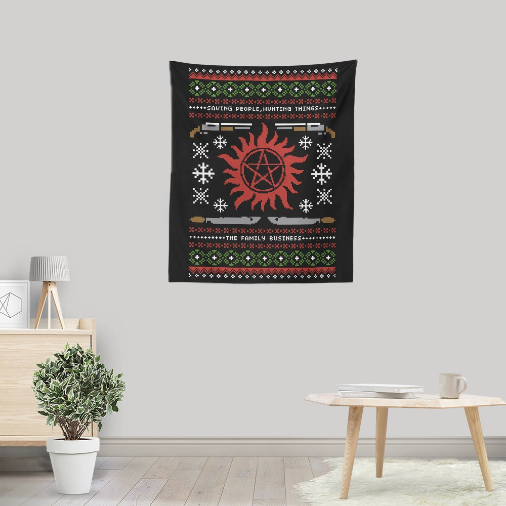 Wrapping Presents, Hunting Things - Wall Tapestry