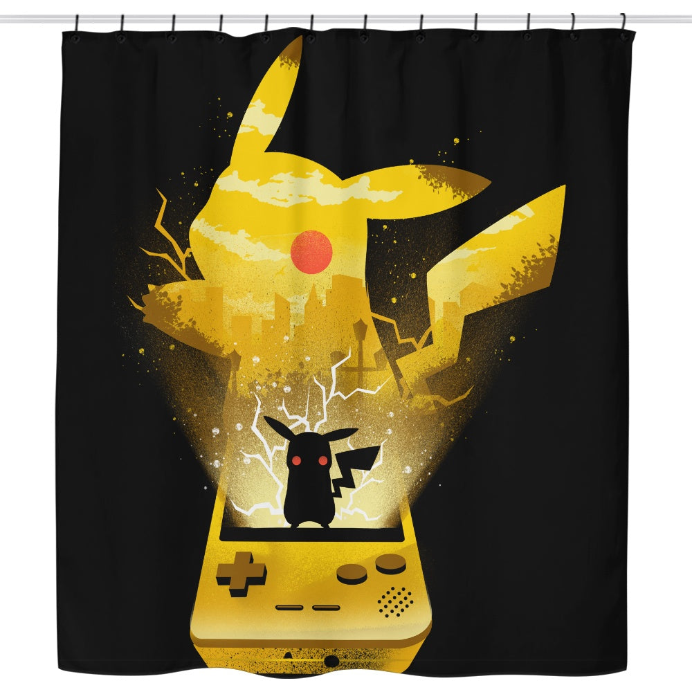 Yellow Pocket Gaming - Shower Curtain