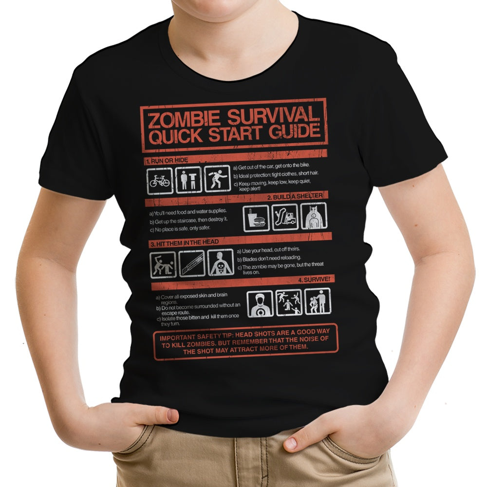 Zombie Survival Quick Start Guide - Youth Apparel