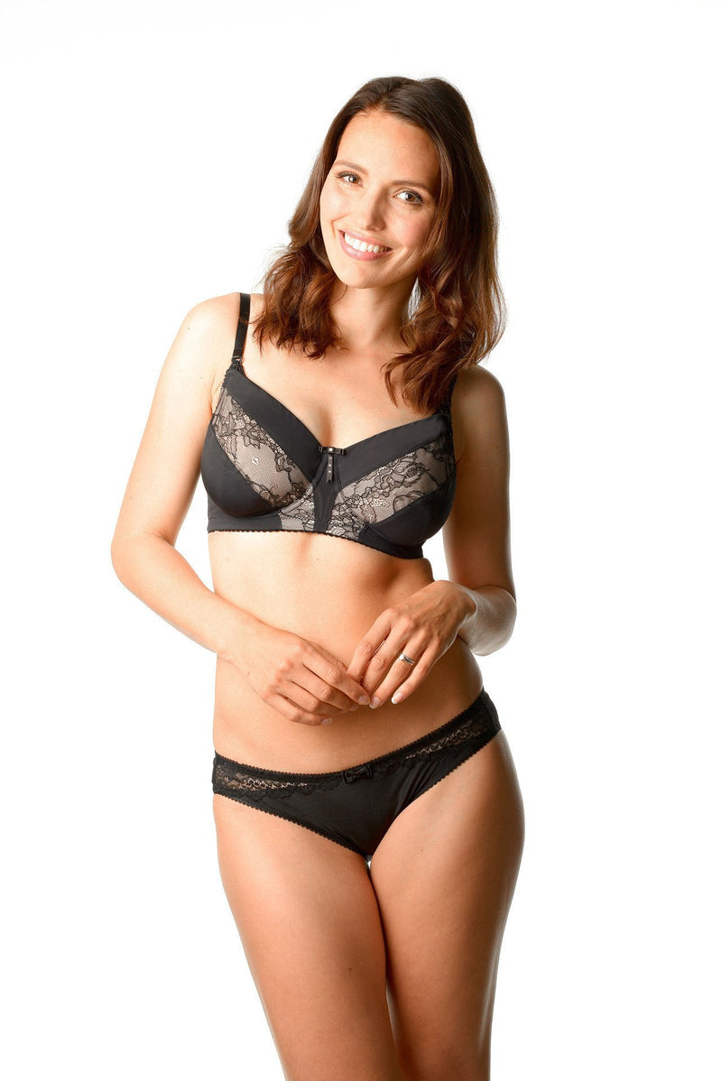Hotmilk Lure Black Flexiwire Nursing Bra with Eclipse Bikini