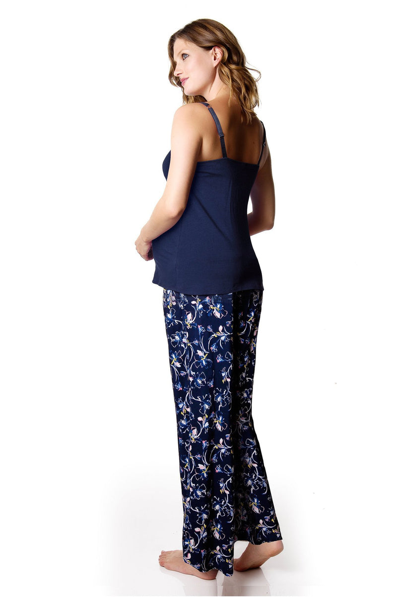 HOTMILK MY EVERYDAY NAVY CAMISOLE WITH ENIGMA NAVY PJ PANT
