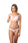 HOTMILK SHOW OFF LUXE NURSING BREASTFEEDING PREGNANCY BRA - WIREFREE WITH SHOW OFF LUXE BIKINI BRIEF