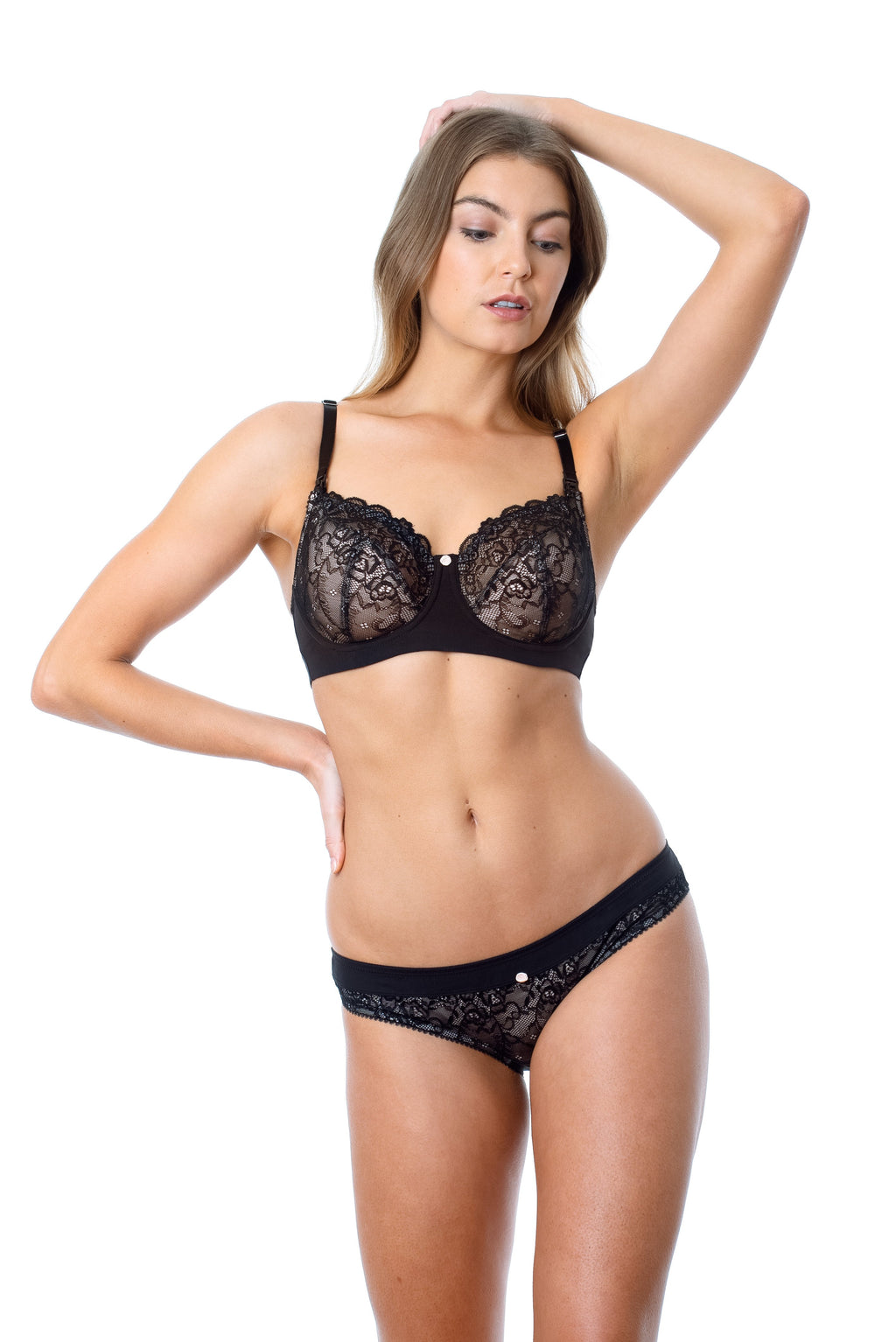 TEMPTATION BLACK HOTMILK NURSING AND BREASTFEEDING BRA