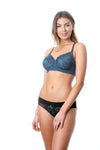 Hotmilk Temptation Storm Prgenancy Nursing breastfeeding bra with matching black Temptation bikini for maternity