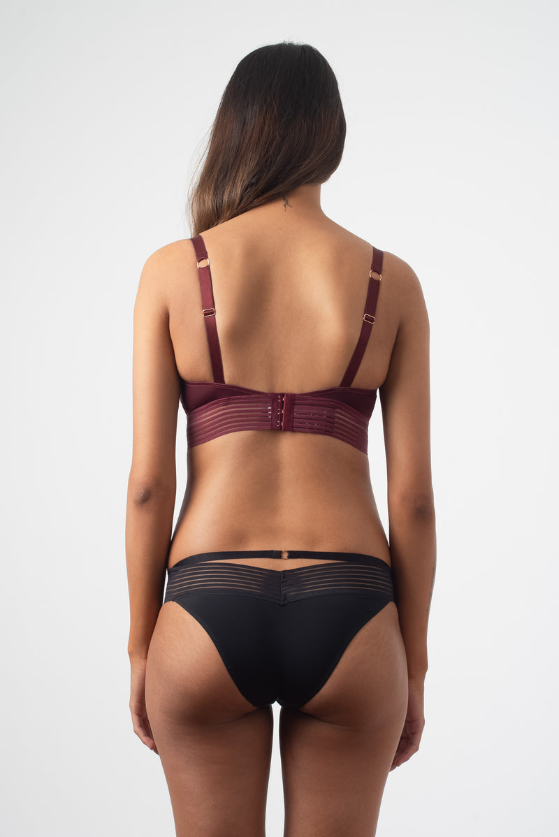 AMBITION TRIANGLE CONTOUR PLUM NURSING BRA - WIREFREE