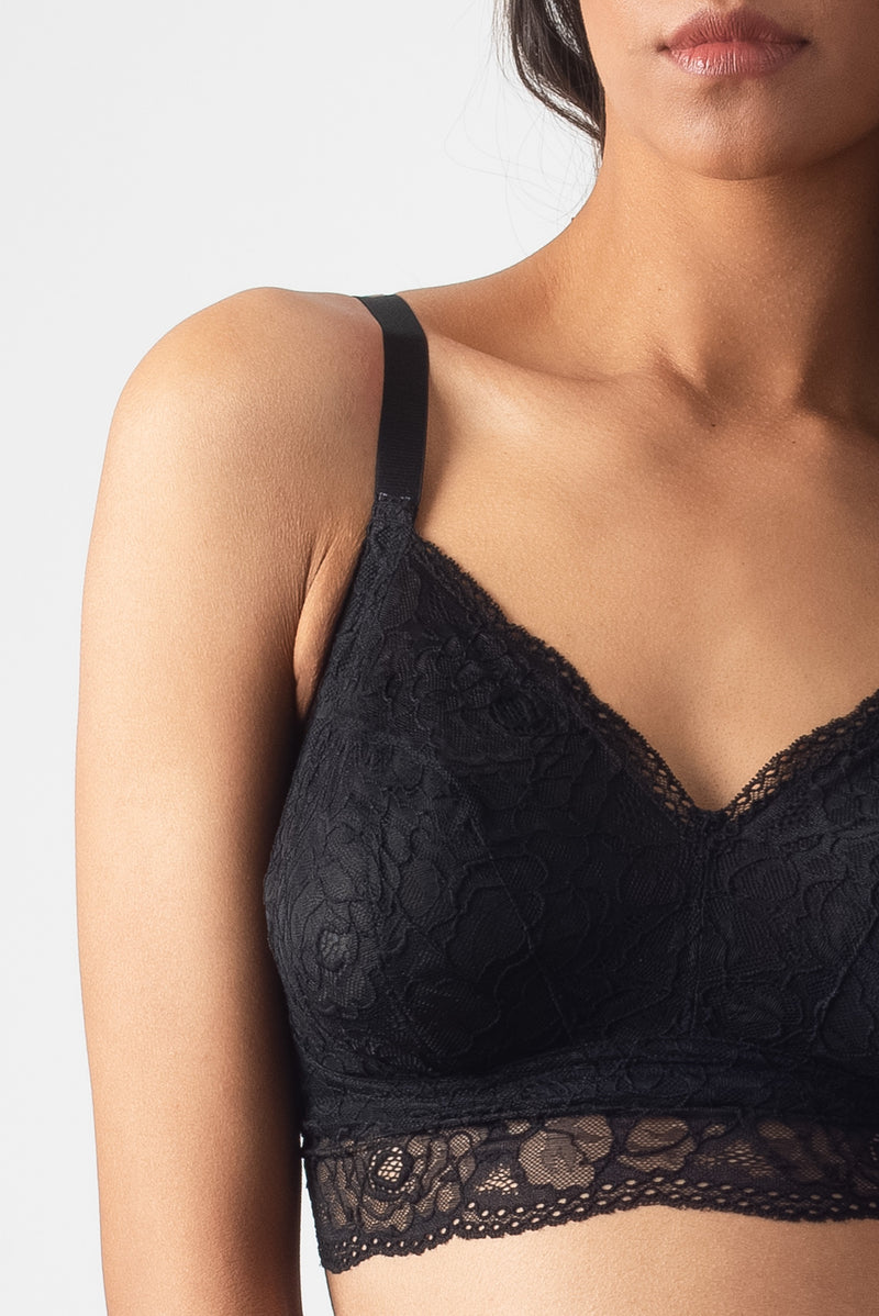 HOTMILK PROJECTME Heroine Bralette Black - Maternity PREGNANCY AND AMBITION HIGH WAISTED BRIEF