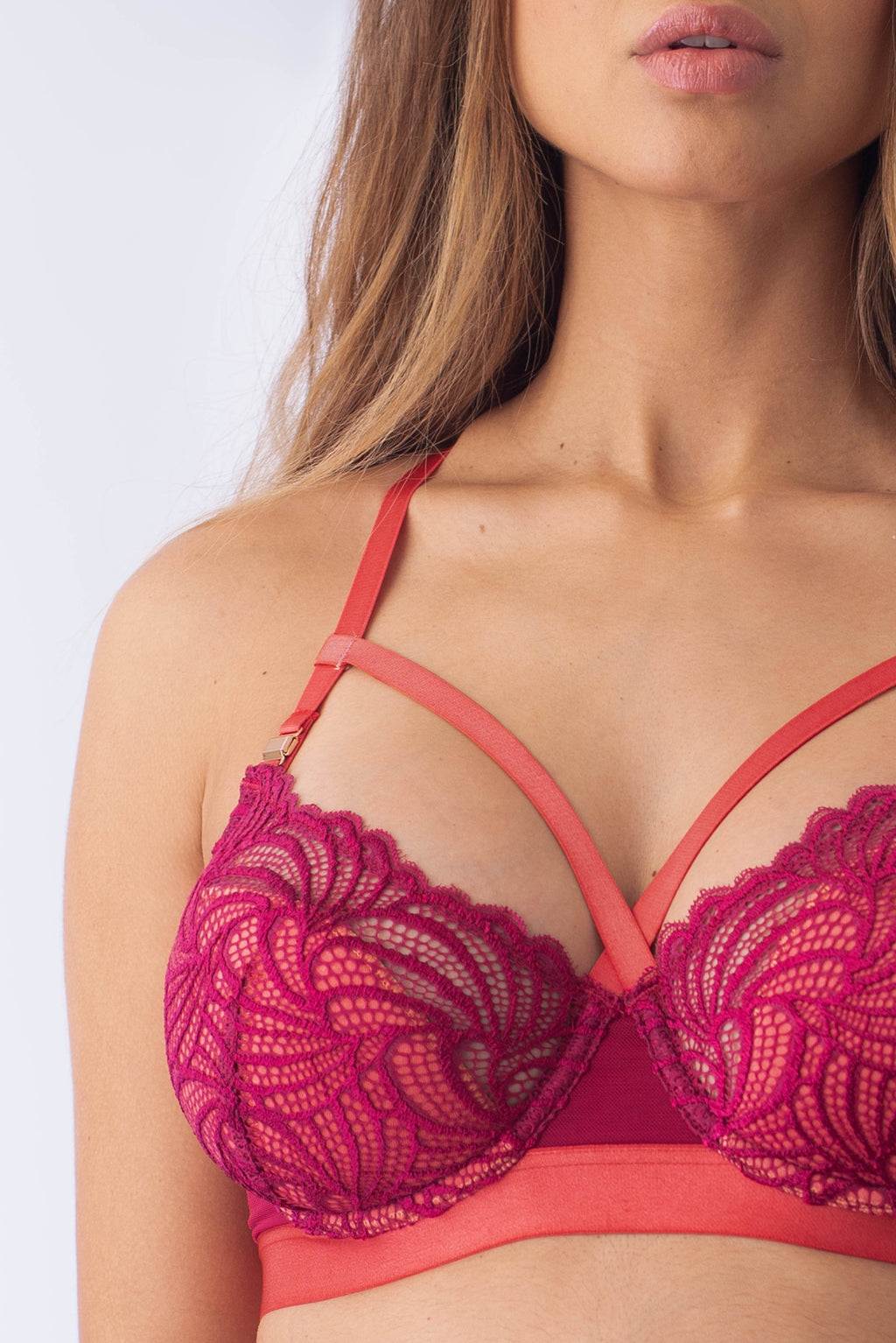 HOTMILK PROJECTME WARRIOR BALCONETTE SANGRIA CONTOUR NURSING BREASTFEEDING PREGNANCY BRA - FLEXI UNDERWIRE