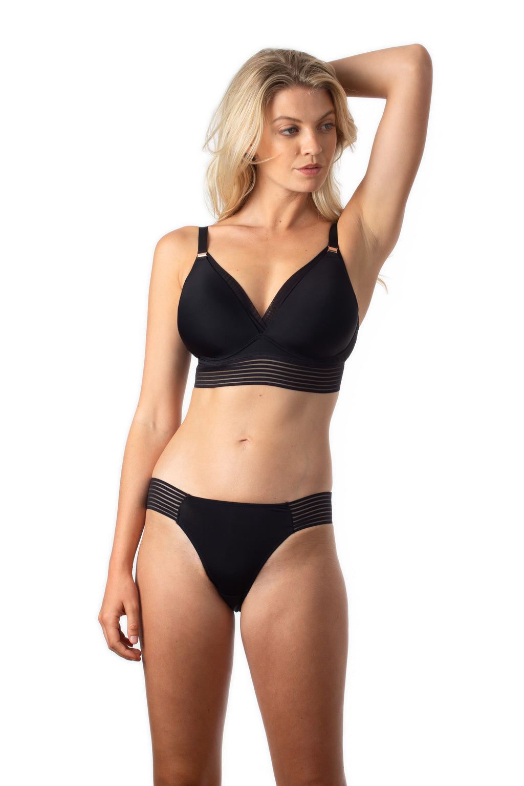 AMBITION TRIANGLE CONTOUR BLACK NURSING BRA - WIREFREE