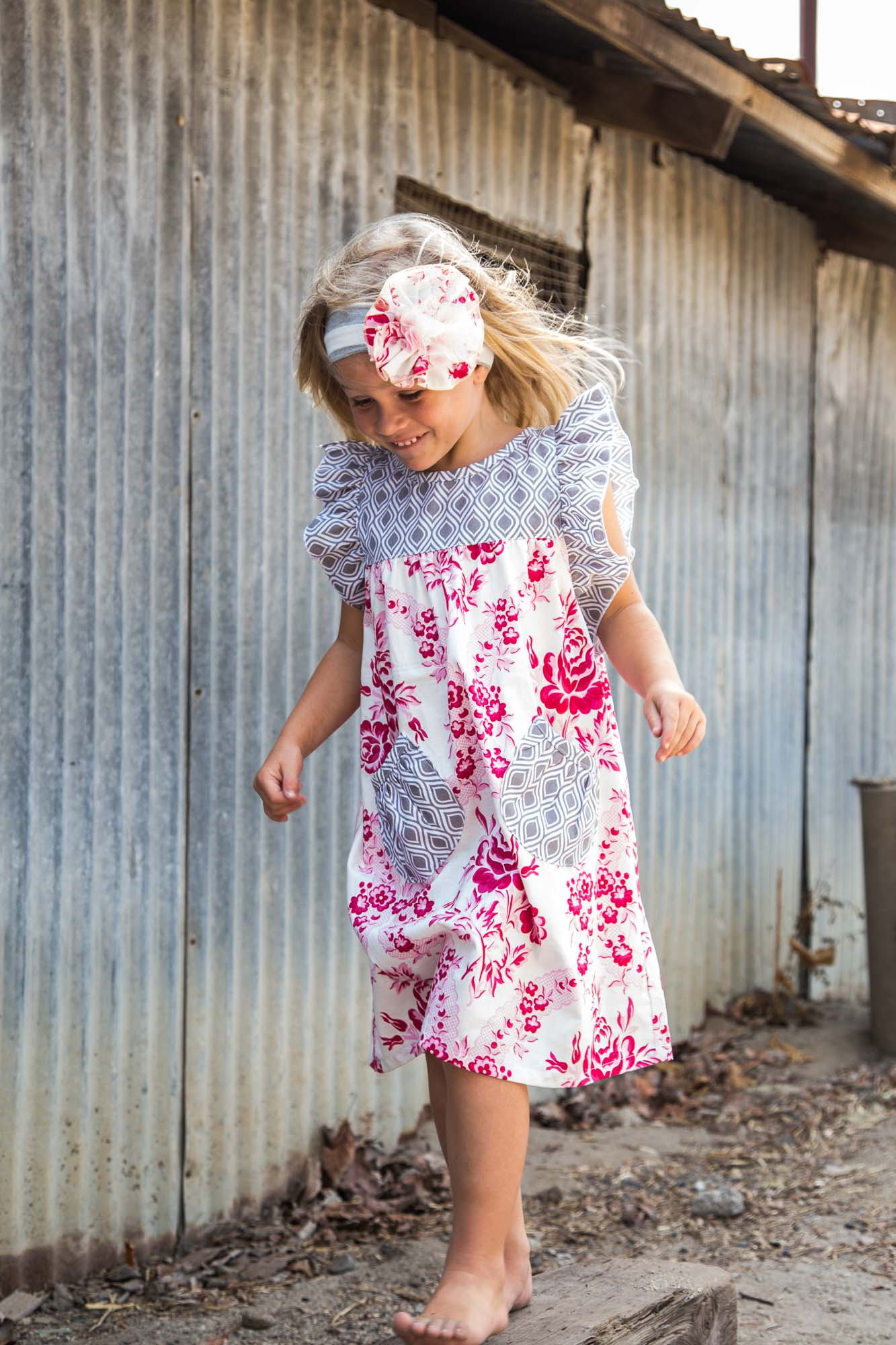 Pink Blossom Tunic Dress