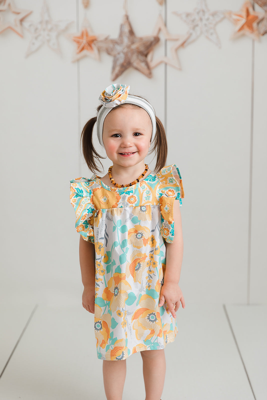 Golden Faith Tunic Ruffle Dress