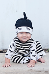 Budds Giddy Up Black Stripe Romper & Hat