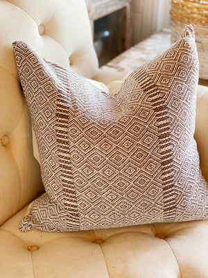 Taupe Diamond Textured Pillow Cover