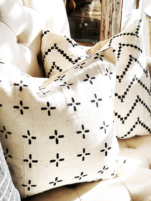 Plus Black & White  Mud Cloth Pillow Cover
