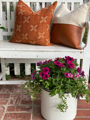 Rust X Mud Cloth Pillow Cover