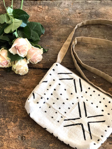 Black X Dot & White Cross Body Bag