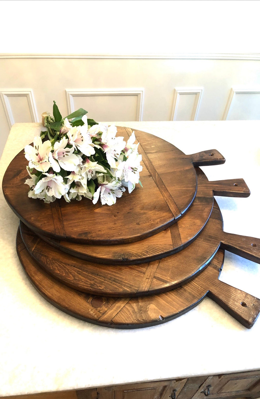 Extra Large Pine Round Bread Board