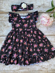 Mini Garden Boho Ruffle Dress & Headband Set