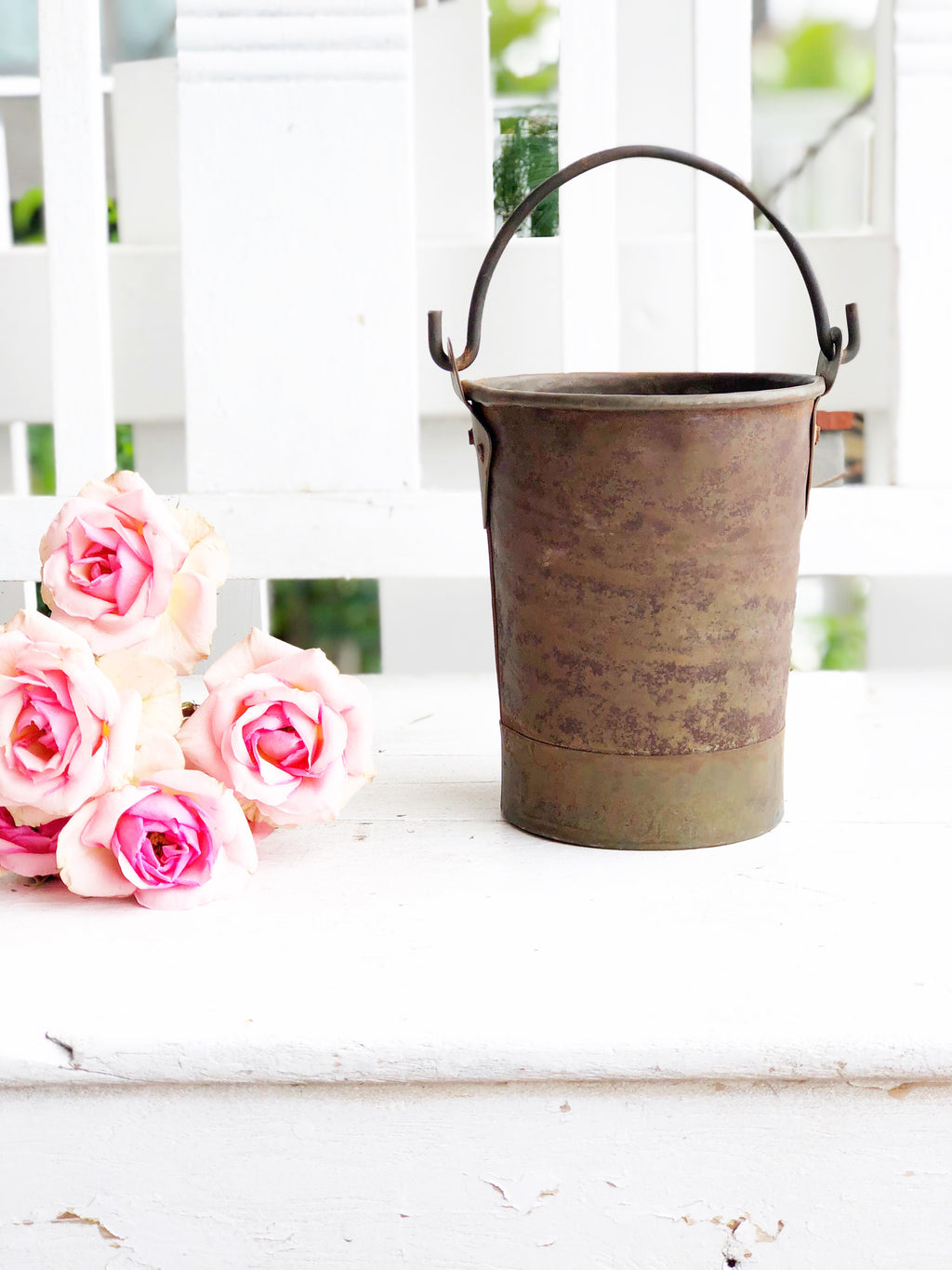 Mini Galvanized Vintage Bucket