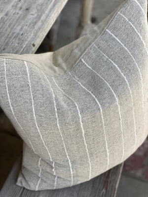 Bella Designer Stripe Linen Pillow Cover