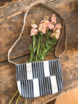 Linen Stripe Cross Body Bag