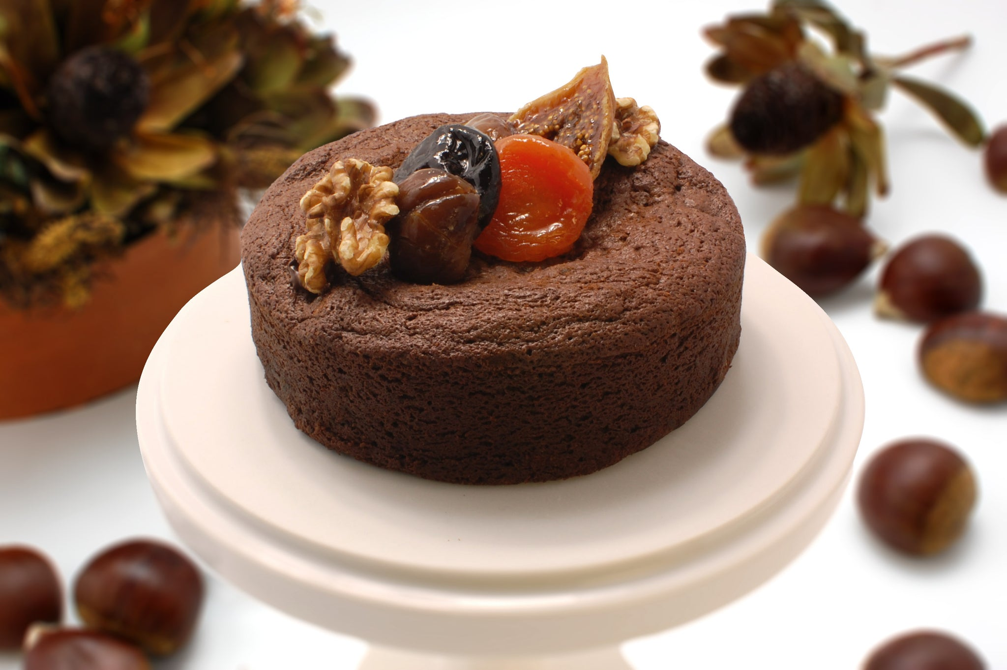 Autumn Chocolate Chestnut Cake