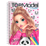 Top Model Small 3D Colouring Book