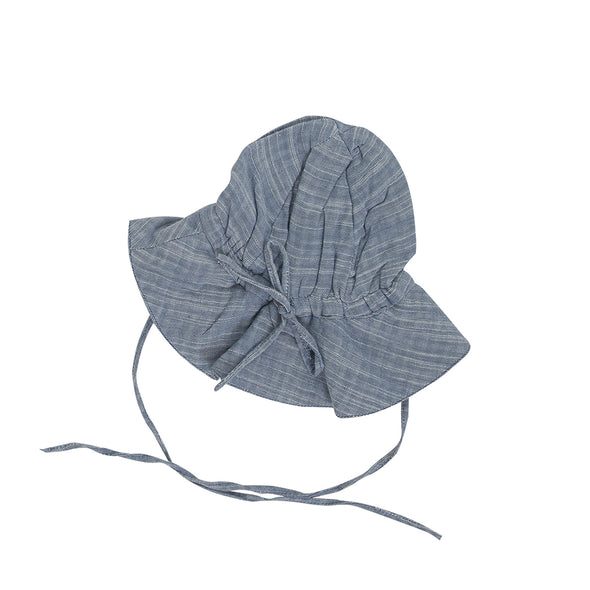 Tiny Twig Sun Hat Blue Chambray