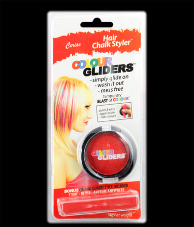 Colour Gliders Hair Chalk Glider/Stick Red
