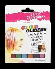 Colour Gliders Hair Chalk 6 Pack