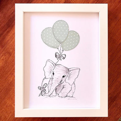 Willow & Winona Art Animal Nursery Print