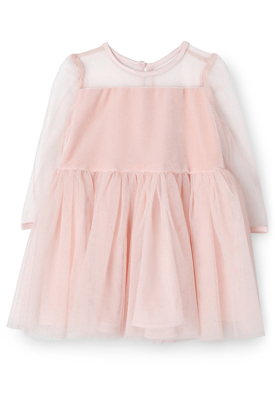 Bardot Junior Dress Velour and Mesh Dusty Pink #