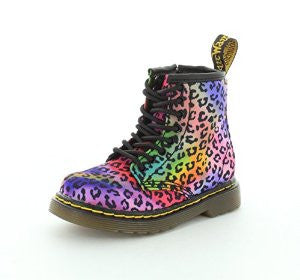 Dr Martens Brooklee Lace Boot w/zip Multi Mini Psych Leo *