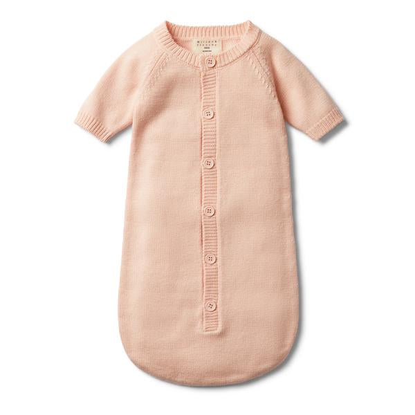 Wilson & Frenchy Peachy Pink Knitted Cocoon Sleeper *#