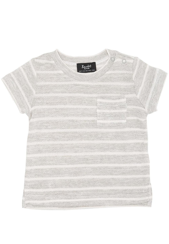 Bardot Junior Pocket Tee Grey Marle #