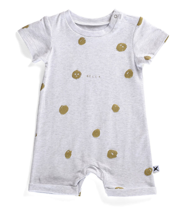 Minti Baby Brooklyn Suit Happy Dots White Marle*#