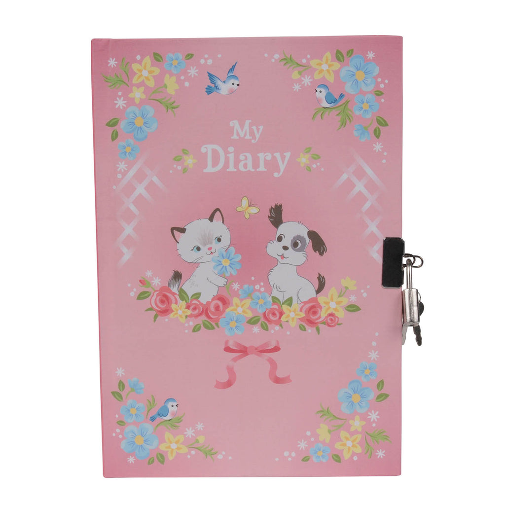 Tiger Tribe Lockeable Diary Kittens & Puppies