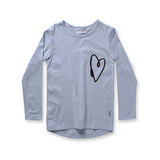 Minti Lovely Heart L/S Tee Frost #